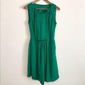ZARA // Green Emerald Sleeveless Dress